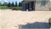 Interlock brick/natural stone installation